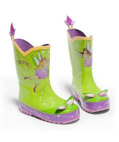 Chartreuse Fairy Rain Boots