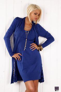 Naisten vaatteet - Neuleet - Neulemekko ja liiviyhdistelmä - ClothStation