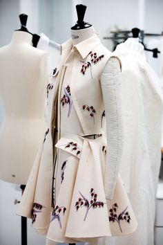 White coat Christian Dior fall 2016