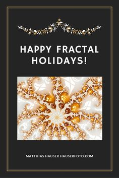 Happy fractal Holidays! Luxe glossy golden Fractal. Visit my Fractal Art Gallery with more than 300 Fractals here: http://matthias-hauser.artistwebsites.com/collections/fascinating+fractals (c) Matthias Hauser hauserfoto.com