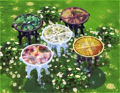 My Sims 4 Blog: Glass Dining Tables by TokSik
