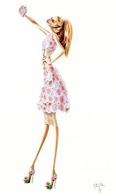 fashion ~ Arturo Elena Fashion illustration
