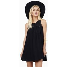 Tobi Sweet as Babydoll Dress ($52) ❤ liked on Polyvore featuring dresses, black, babydoll dress, doll dress, no sleeve dress, tobi dresses and sleeveless dress
