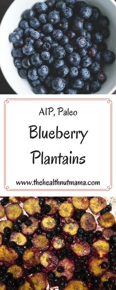 A delicious quick & easy side for breakfast! You won't even miss blueberry pancakes! (AIP, Paleo) www.thehealthnutmama.com