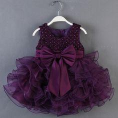 Enfant BÉBÉS Filles Fleur Princesse Mariage BOW Robe Party Tutu Robe DE Soirée   eBay
