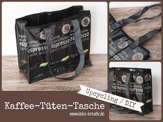 Upcycling DIY - Kaffeetütentasche