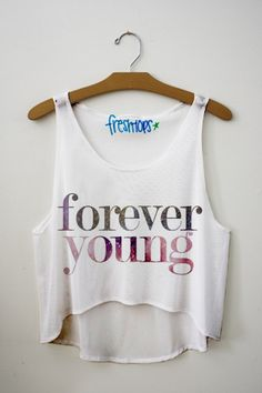 Forever Young Crop Top from FRESH TOPS