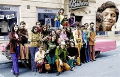 Osama bin Laden (the second in the second line from right) posed in Falun, Sweden in 1971