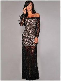 FASHION OFF-SHOULDER BLACK LACE AUTUMN EVENING DRESS WOMEN SEXY LONG ELEGANT MERMAID CELEBRITY STYLE VESTIDOS BANDAGE BODYCON BALL PARTY GOWN