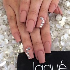 Think matte nude is too…nude? Then add some diamonds. Instantly becomes more interesting than boring.