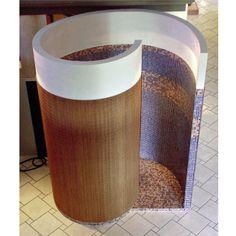 Spiral open shower design.