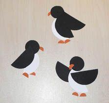 December or January- easy winter craft Simple penguins Circle Crafts, Bird Crafts, Animal Crafts, Fall Crafts, Winter Art, Winter Theme, Toddler Art, Toddler Crafts, Penguin Craft