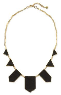 House of Harlow 1960 Leather Station Necklace  by Nordstrom