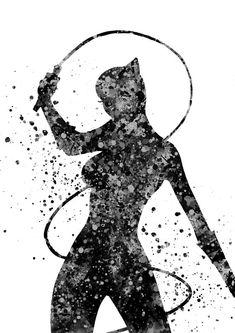 Catwoman Catwoman Print Print Marvel por RosalisArt en Etsy