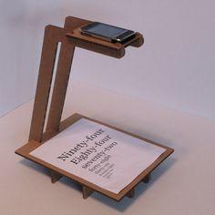 Scanner sans scanneur support carton pour numérise avec son téléphone
