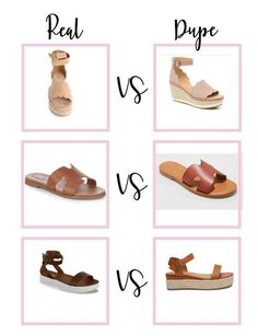 Spring shoe dupes you need spring 2021! Holiday Fashion, Autumn Fashion, Spring Fashion, Chloe Wedges, Most Popular Shoes, Leopard Flats, Steve Madden Heels, Spring Shoes, Dupes