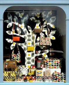 Colourful Orla Kiely window display. #retail #merchandising #window_display