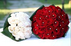 hungary Flowers - Red Rose with Swarovski crystals $59.99