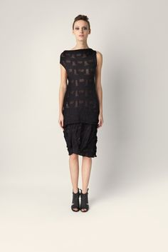 Slim cotton knitted dress Malloni. Sleeveless, with boat neckline.