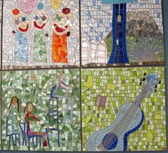 """Artist Jennifer Kuhns was hired to """"translate drawings"""" created by the students at Lawton Elementary School in Seattle, Wa. MORE ART IN SCHOOLS!!! """"Lawton Elementary School Auditorium"""" by Jennifer Kuhns"""