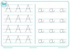 Fichas de gramotricidad con letras - Mundo Primaria School Fun, Blog, Math Equations, Education, Learning, Homeschooling, Planes, Early Education, Writing Folders