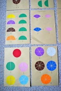 Kaartjes bij alle 15 breukenlesjes uit de materiaalmap - MontessoriNet
