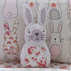 Katy Rabbit 3D Cushion | Dunelm