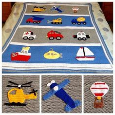 This is the base blanket pattern for the Boys Will Be Boys Blanket. All 12 appliques can be purchased separately for $2 each or you can purchase the complete eBook for $20 saving you $4.