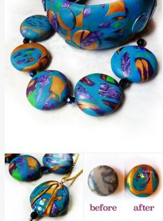 How to Add Weight to Polymer Clay Jewelry Using Low Grade Gemstones ~ The Beading Gem's Journal