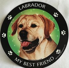 LABRADOR RETRIEVER~MY BEST FRIEND MAGNETIC MAGNET ~ NEW~ MADE IN USA.