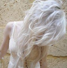 white hair!