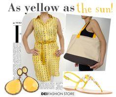 A summer in yellow: Parosh dress http://www.deifashionstore.com/women/parosh-dress.html Le Capresi sandals http://www.deifashionstore.com/women/le-capresi.html Woolrich bag http://www.deifashionstore.com/women/woolrich-bag.html