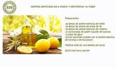Aceites esenciales para desinfectar y limpiar