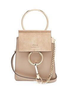 f5a2ef0e53 Faye mini suede-panel leather cross-body bag   Chloé   MATCHESFASHION.COM US