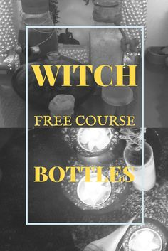 A free course, containing everything you need to now about Witch Bottles! Easy witchcraft courses for beginners.