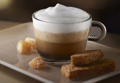 I am in love with my Nespresso machine and a site with recipes for it... unbelievable!