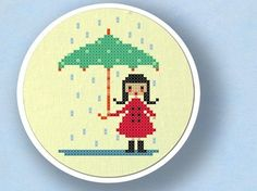 rainy day- cross stitch