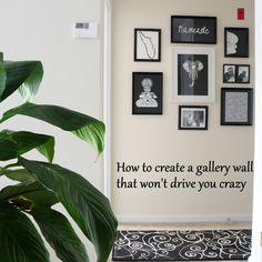 black and white gallery wall, how to create a gallery wall that is not cluttered, how to create a gallery wall that is not busy, gallery wall that doesn't make you crazy Hip Hip, Gallery Wall, Wall Art, Black And White, Create, Diy, Inspiration, Home Decor, Biblical Inspiration