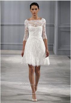 mariée, bride, mariage, wedding, robe mariée, wedding dress, white, blanc Monique Lhuillier 2014  Plus sur http://www.yesidomariage.com/coiffure/quels-accessoires-pour-personnaliser-votre-coiffure-de-mariee/