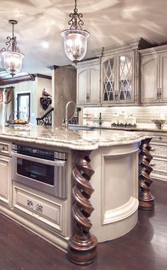 ~Grand Mansions, Castles, Dream Homes … Luxury Kitchen . ~Grand Mansions, Castles, Dream Homes & Luxury Homes- love the cabinet! Luxury Kitchen Design, Luxury Kitchens, Home Kitchens, Small Kitchens, Dream Kitchens, Custom Kitchens, Kitchen Small, Open Kitchen, Beautiful Kitchens