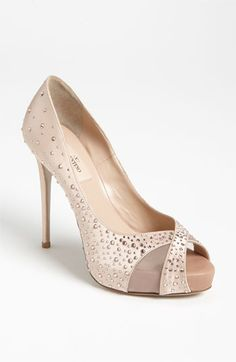 "Velentino ""Sparkle"" Open Toe Pump"