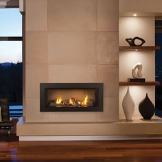 Simple and Stylish Tricks: Contemporary Home Fireplace contemporary fireplace benches. Modern Fireplace Mantles, Fireplace Tv Wall, Linear Fireplace, Fireplace Remodel, Living Room With Fireplace, Fireplace Surrounds, Fireplace Design, Fireplace Ideas, Wall Tv