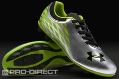 Under Armour Junior Football Boots - Under Armour Force II HG - Firm Ground - Kids Soccer Cleats - Silver-Black