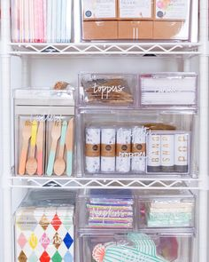 Party Planning Closet organization from The Home Edit pros. Baking Organization, Pantry Organisation, Storage Organization, Bathroom Organisation, Storage Bins, Storage Containers, Cocoppa Wallpaper, Party Supply Store, The Home Edit