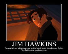 ha! Jim Hawkins from Treasure Planet :) want to watch cuz its JGL!
