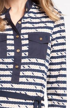 Tory Burch 'Suzette' Nautical Shirtdress