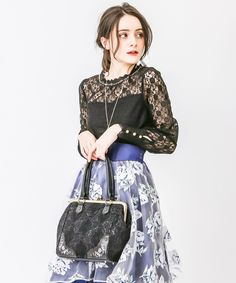 axes femme online shop|がま口レース刺繍バッグ