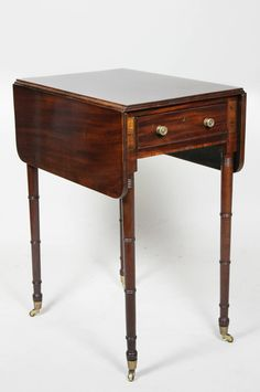 Regency Mahogany And Brass Inlaid Table image 2