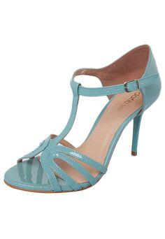 Sandália Verniz DAFITI SHOES azul 5725deb9c9a34