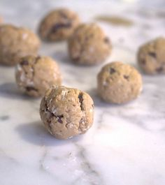 I make this single serving protein cookie dough everyday without fail! It's super easy, and you get a giant bowl of cookie dough with 20 grams of protein for only 125 calories. Heaven!